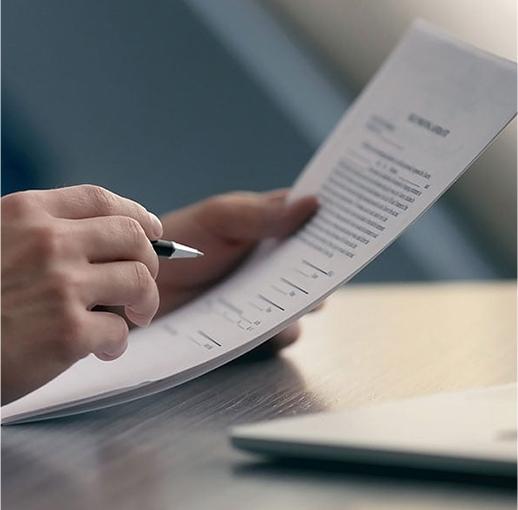 Close-up of HST rebate document