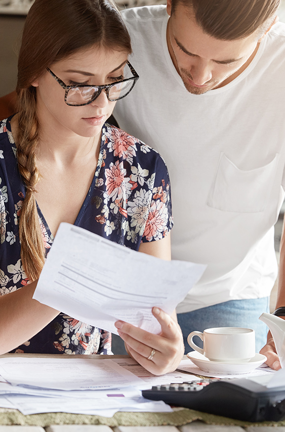 First-time homeowners reviewing notice of assessment from the CRA